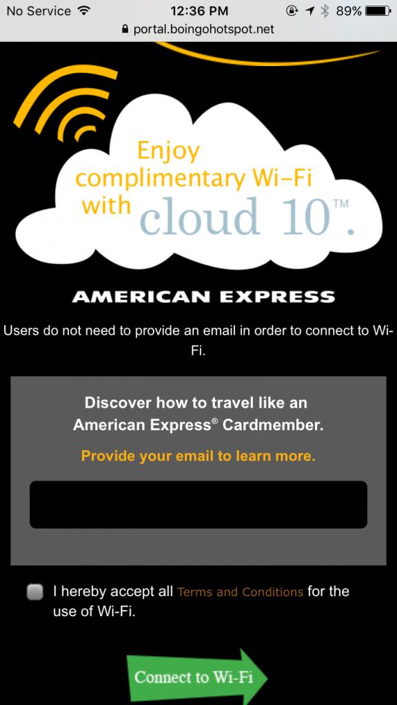 トロント空港 Wi-Fi